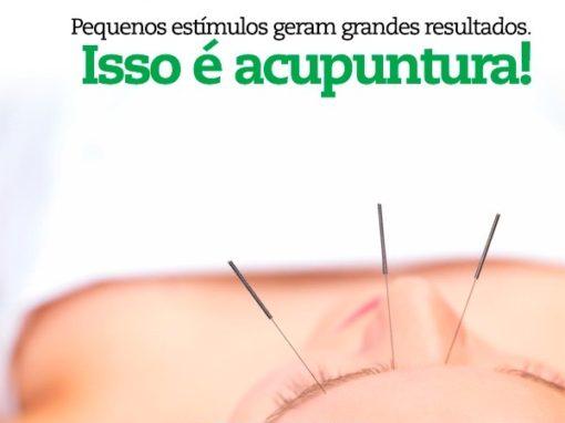 Quando o menos é mais. Pequenos estímulos geram grandes resultados. Isso é acupuntura!